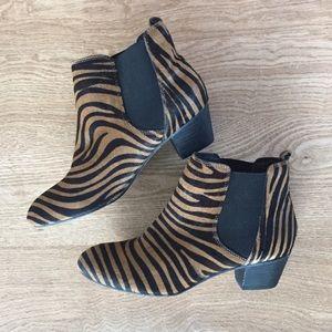 Aldo animal print calf hair booties sz 8.5